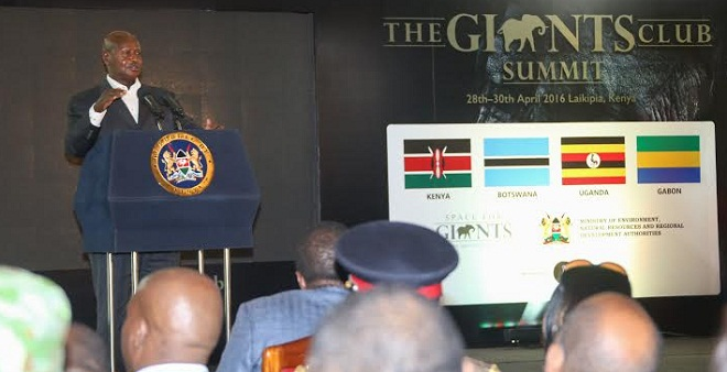 President Museveni addresses the Giants Summit in Kenya. PHOTOS BY PPU