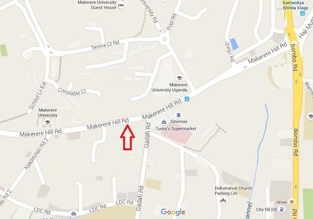 Google map Makerere Hill Road