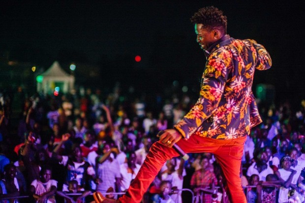 Bobi Wine performing at #WeLoveYouganda. PHOTO BY Stefan Groenveld