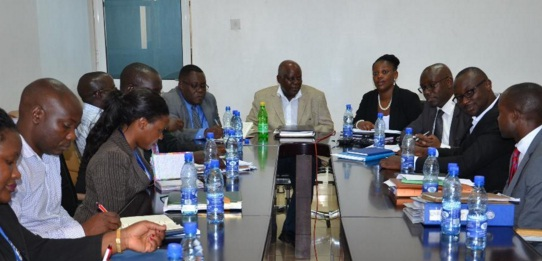 URA and WBS officials at a meeting where it was agreed a new team manages the TV to recover taxes. URA PHOTO
