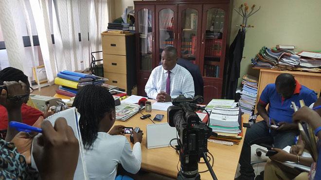 Lukwago talking to the press last week.