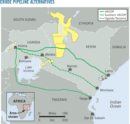map of oil route