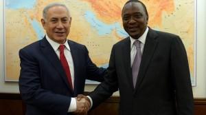 Uhuru Kenyatta and Netanyahu during the Kenyan president's visit to Israel last month.