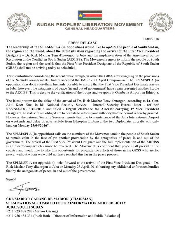 press release splmo