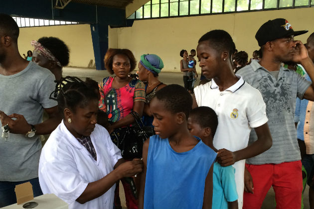 Boys get vaccination as Angola struggles to control a yellow fever outbreak. WHO PHOTO