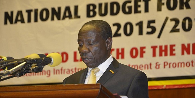 Minister Matia Kasaija reads out the Uganda 2015/16 budget. Hard to imagine how government manages with so little resources