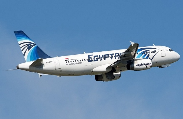 AFP FILE PHOTO of an EgypAir plane
