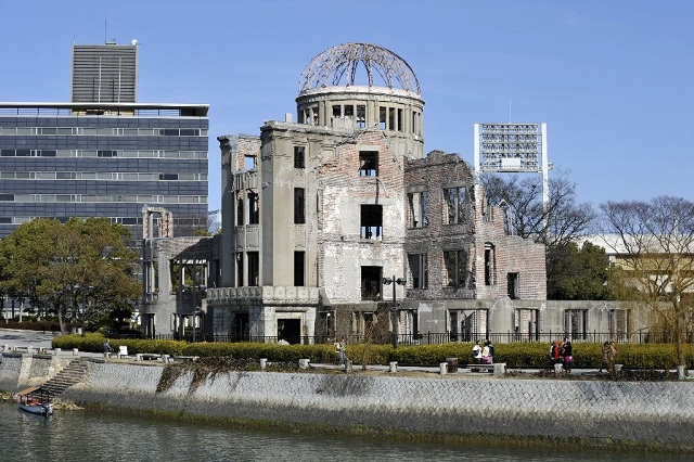 he Atomic Bomb Dome was the only structure not obliterated in the Hiroshima bombing and serves as a memorial to the 140,000 victims of the 1945 attack at the end of WWII. PHOTO AFP