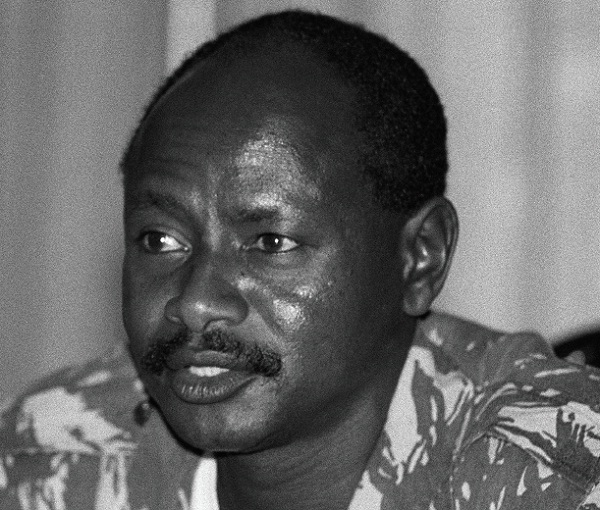 National Resistance Army (NRA) leader Yoweri Museveni holds his first cabinet meeting after being sworn in as president of Uganda on January 29, 1986 in Kampala.
