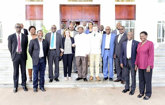 Museveni meets the PR team, Ugandan tourism and wildlife officials