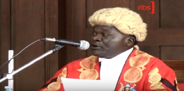 NBS TV screen shot of the Justice Owiny Dollo
