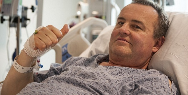 "This handout photo courtesy of Massachusetts General Hospital in Boston shows patient Thomas Manning, the 64-year-old man who lost most of his penis to cancer, who is recovering well after undergoing the United States' first penis transplant operation, doctors said May 16, 2016. The 15-hour surgery took place earlier this month at Massachusetts General Hospital in Boston, and is the third such operation known in the world. ""The patient, Thomas Manning, 64, of Halifax, Massachusetts, continues to recover well, with blood flow established to the donor organ and no signs of bleeding, rejection or infection,"" the hospital said in a statement. ""While the patient is still early in the post-surgical healing process, his physicians say they are cautiously optimistic he will regain function that he lost in 2012."" The penis came from a dead donor who matched Manning's blood type and skin tone. / AFP PHOTO / Massachusetts General Hospital / Sam RILEY / RESTRICTED TO EDITORIAL USE - MANDATORY CREDIT ""AFP PHOTO / MASSACHUSETTS GENERAL HOSPITAL / SAM RILEY - NO MARKETING NO ADVERTISING CAMPAIGNS - DISTRIBUTED AS A SERVICE TO CLIENTS == NO ARCHIVE == NO SALES =="
