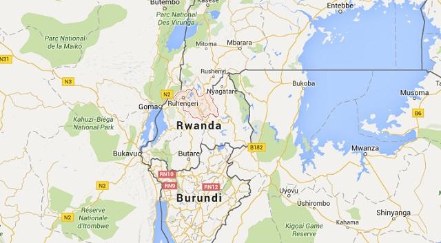 Google map of Rwanda