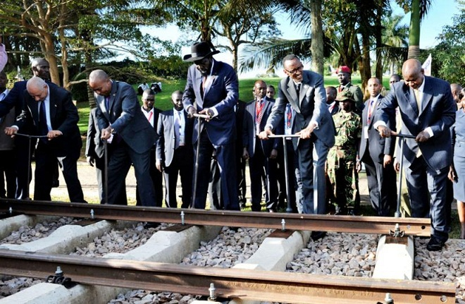 NCIP presidents launch the Standard Gauge Railway Project