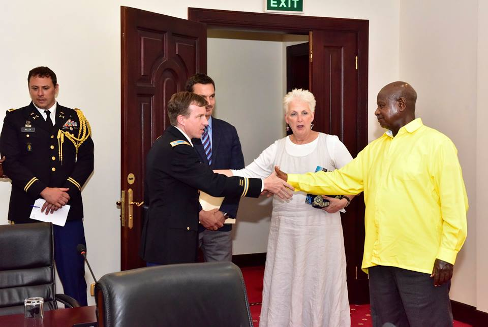 US Ambassador Malac at a recent meeting at State House with Museveni