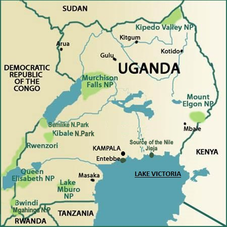 Uganda map tourism