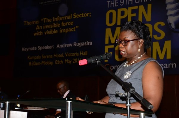 URA CG Doris Akol explaining way forward to increase revenue