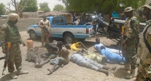 A recent Nigeria Army photograph of an operation against Boko Haram