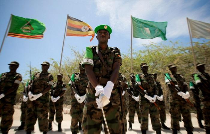 A parade involving Ugandan troops in Somalia. PHOTO AMISOM