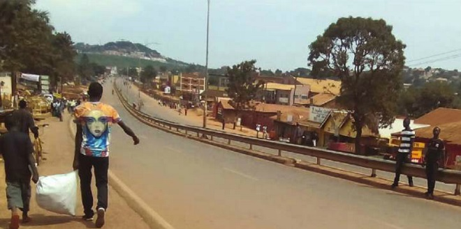Entebbe road deserted prior to the arrival of South Korean and Turkish heads of state. PHOTO/JIMMY SIYA