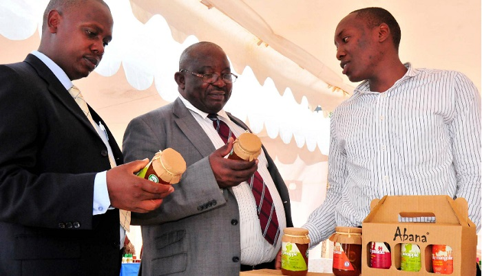 Guests looking at some of the products exhibited at the Uganda National Bureau of Standards recently. Uganda is seeking to reduce on the esclating trade deficit/ INDEPENDENT/JIMMY SIYA