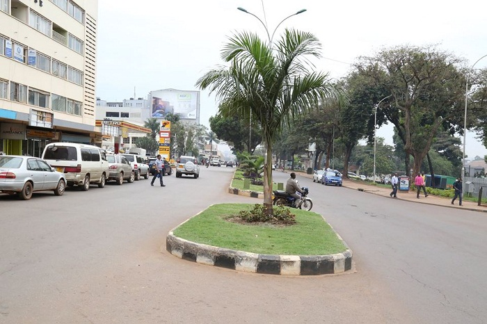 Recent photo of Kampala Road. KCCA to improve marking of streets and buildings in the city. KCCA PHOTO