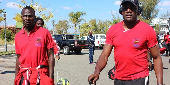 Okwi (left) and Massa in Francistown. PHOTO BY FUFA