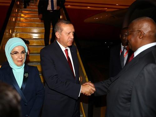 Turkey president in Uganda