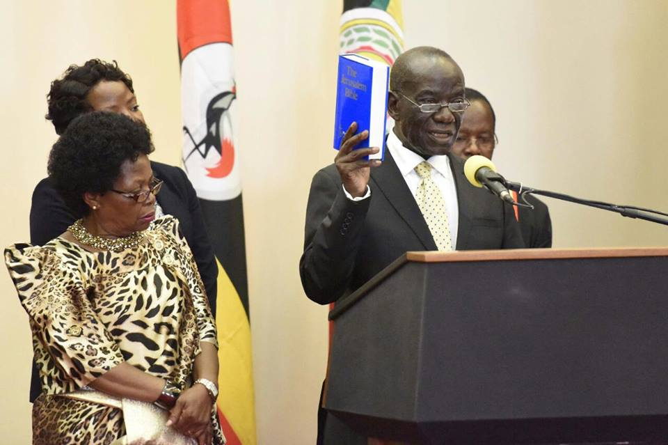 Vice President Ssekandi swearing in