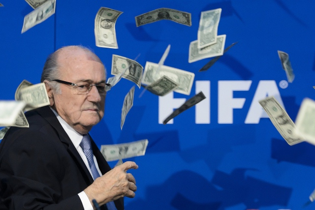 "Sepp Blatter (pictured) and deputies Jerome Valcke and Markus Kattner tried to ""enrich themselves"" with $80 million"