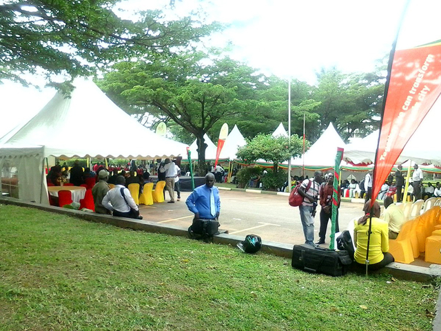 The mood at KCCA headquarters ahead of the swearing-in of Lord Mayor and city councillors