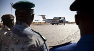 Arrival of Security Council delegation in Mopti, Mali. UN has had several losses in past year. UN PHOTO