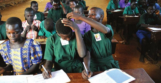 Pupils during a lesson in a UPE School in Soroti. FILE PHOTO