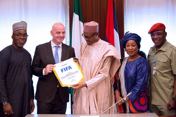 Buhari and Infantino