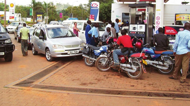 Motorists lining up for fuel at Lugogo Bypass. UNBS says adulterated fuel has dropped in the recent years. INDEPENDENT/JIMMY SIYA