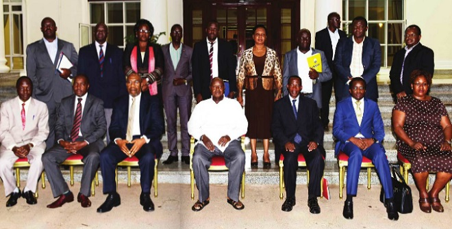 Museveni state house meeting