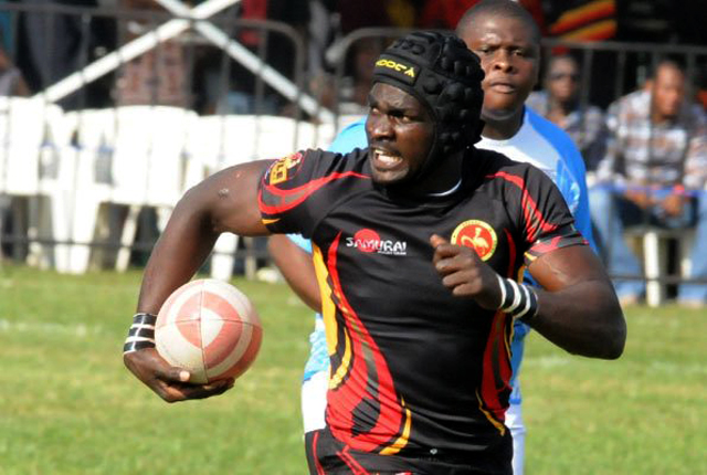 Wokorach in full flight against Botswana during the Rugby Afrique Tier 1B last year when Uganda was promoted to 1A
