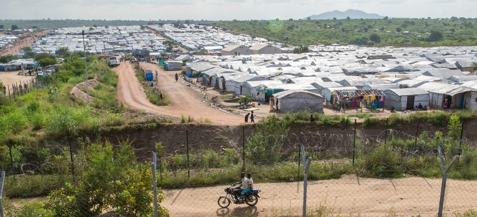 A refugee camp in South Sudan