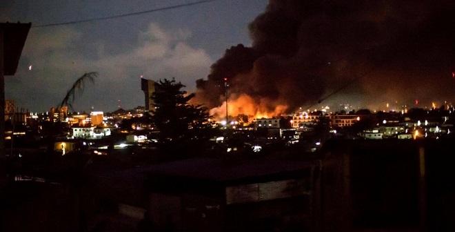 Gabon fire
