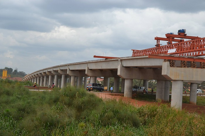 On-going construction of the Entebbe-Express Highway.