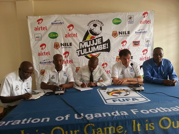 Micho names his team. FUFA PHOTO