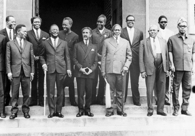 African leaders after an OAU summit in 1963