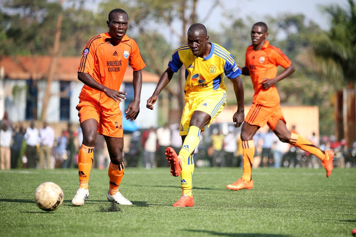 Action in the KCCA game on Tuesday. KCCA won to stay top of the table with 9 points. PHOTO KCCA