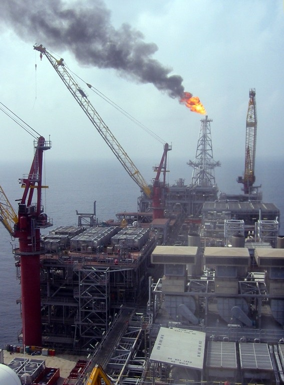 An oil rig in Nigeria.