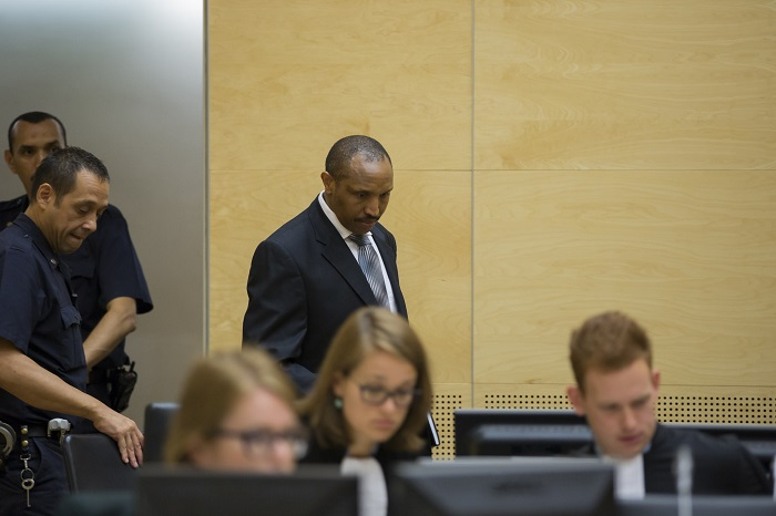 FILE PHOTO of Ntaganda soon after he was taken to The Hague. He is on hunger strike.