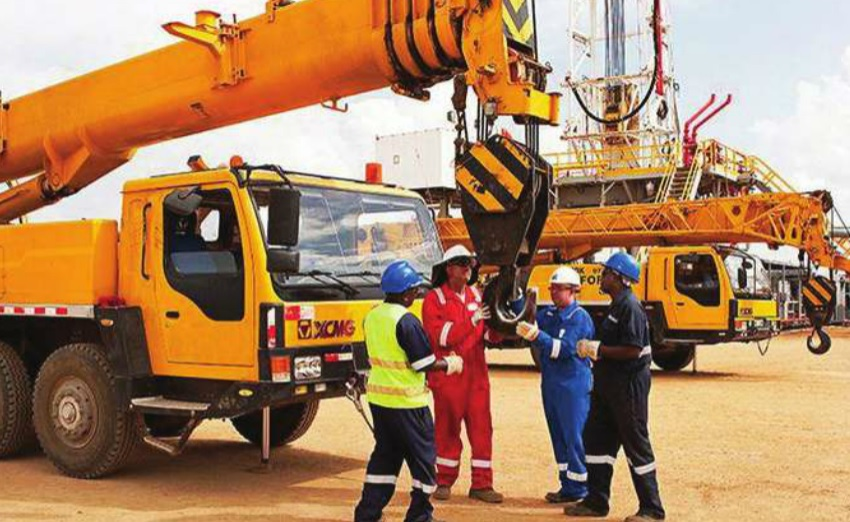 Workers at an oil rig in western Uganda. There are worries about enough local talent. COURTESY PHOTO