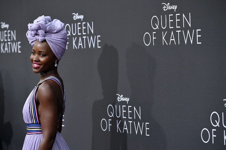 "HOLLYWOOD, CA - SEPTEMBER 20: Actress Lupita Nyong'o attends the premiere of Disney's ""Queen Of Katwe"" at the El Capitan Theatre on September 20, 2016 in Hollywood, California.   Mike Windle/Getty Images/AFP"