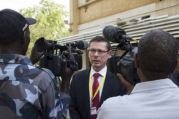 Ivan Šimonović, Assistant Secretary-General for Human Rights speaks to the press during a visit to South Sudan. Photo: UNMISS