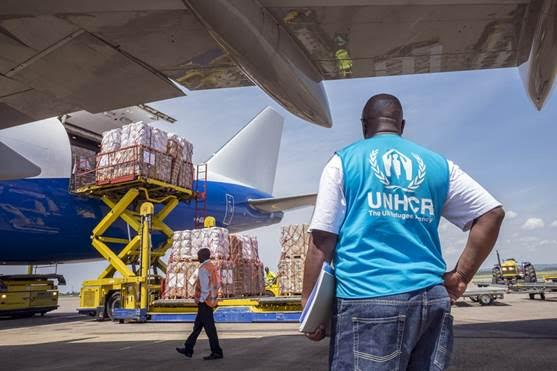 Much needed aid supplies arrive in Uganda to help deal with recent new influx of South Sudanese refugees.   PHOTO UNHCR/Jiro Ose