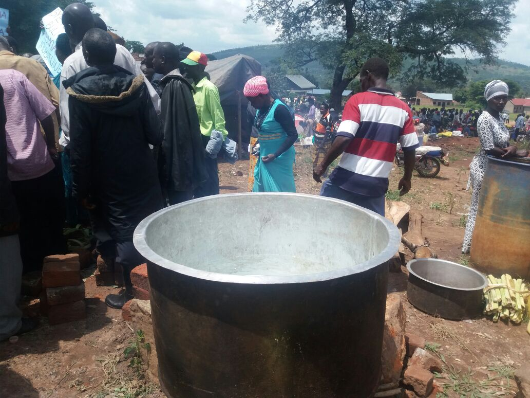 Cooking utensils at the camp indicate the group is determined to stay long. PHOTO GODFREY SSALI